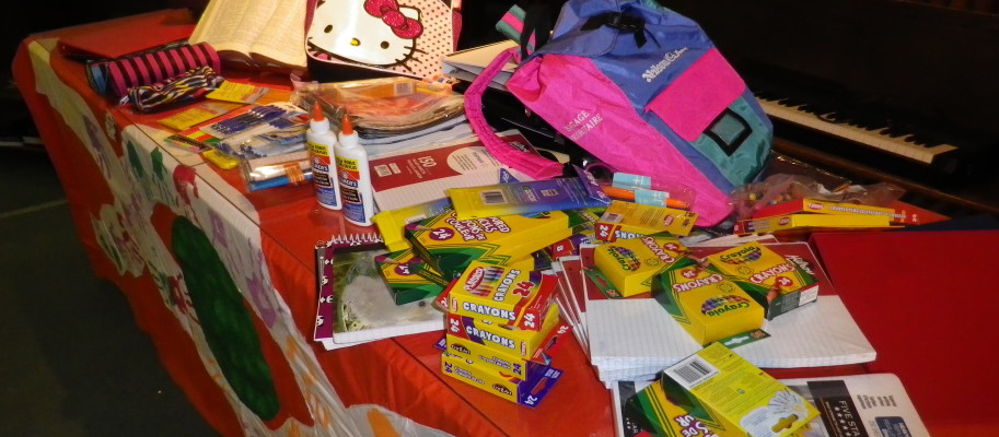 School Supplies donations