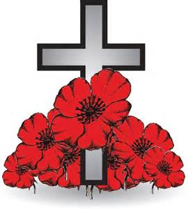 cross and poppies