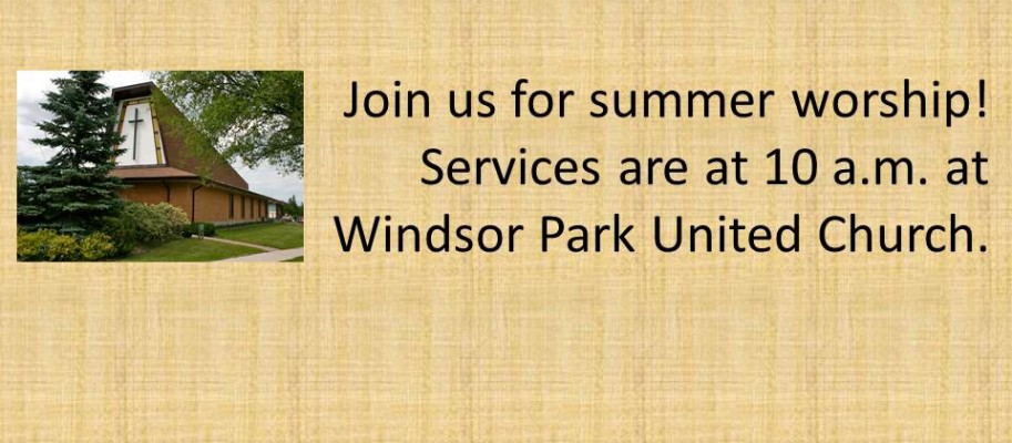 Join us for summer worship!