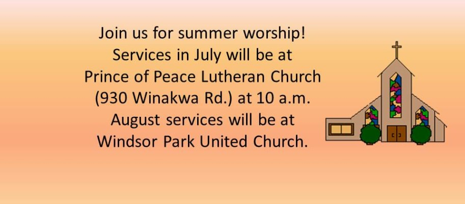 Join us for summer worship!2
