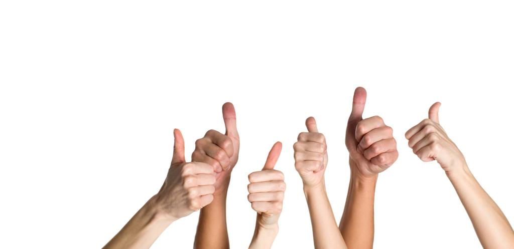 success: thumbs up