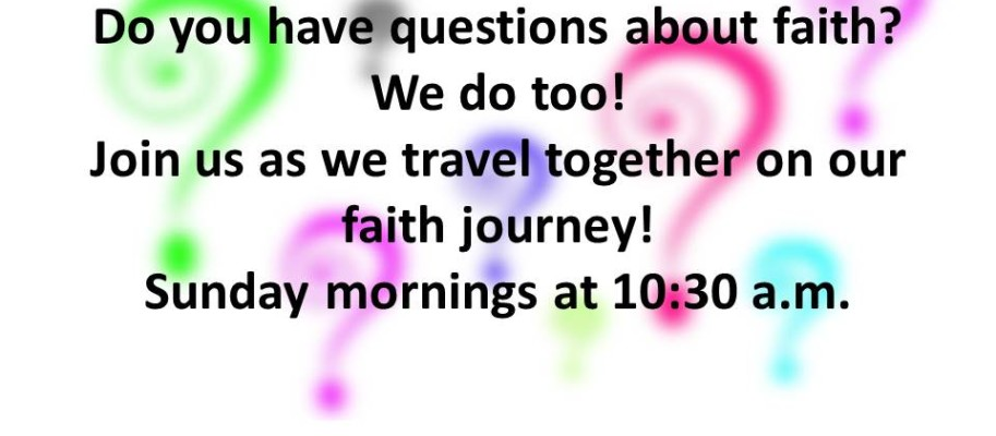 Do you have questions about faith