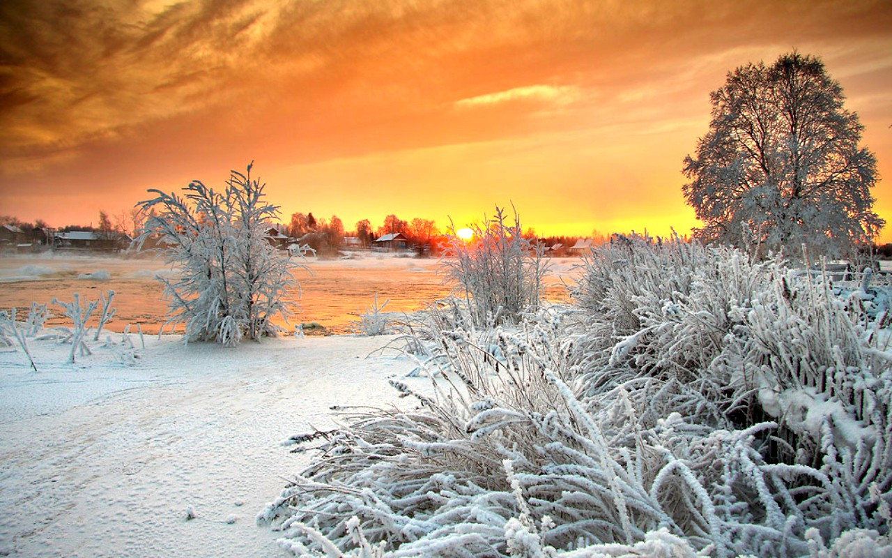 winter-view-sunrise-peaceful-beautiful-lovely-tree-splendor-lake-clouds-houses-time-water-trees-frozen-river-nature-beauty-sunset-landscape-cold-mountain-desktop-backgrounds